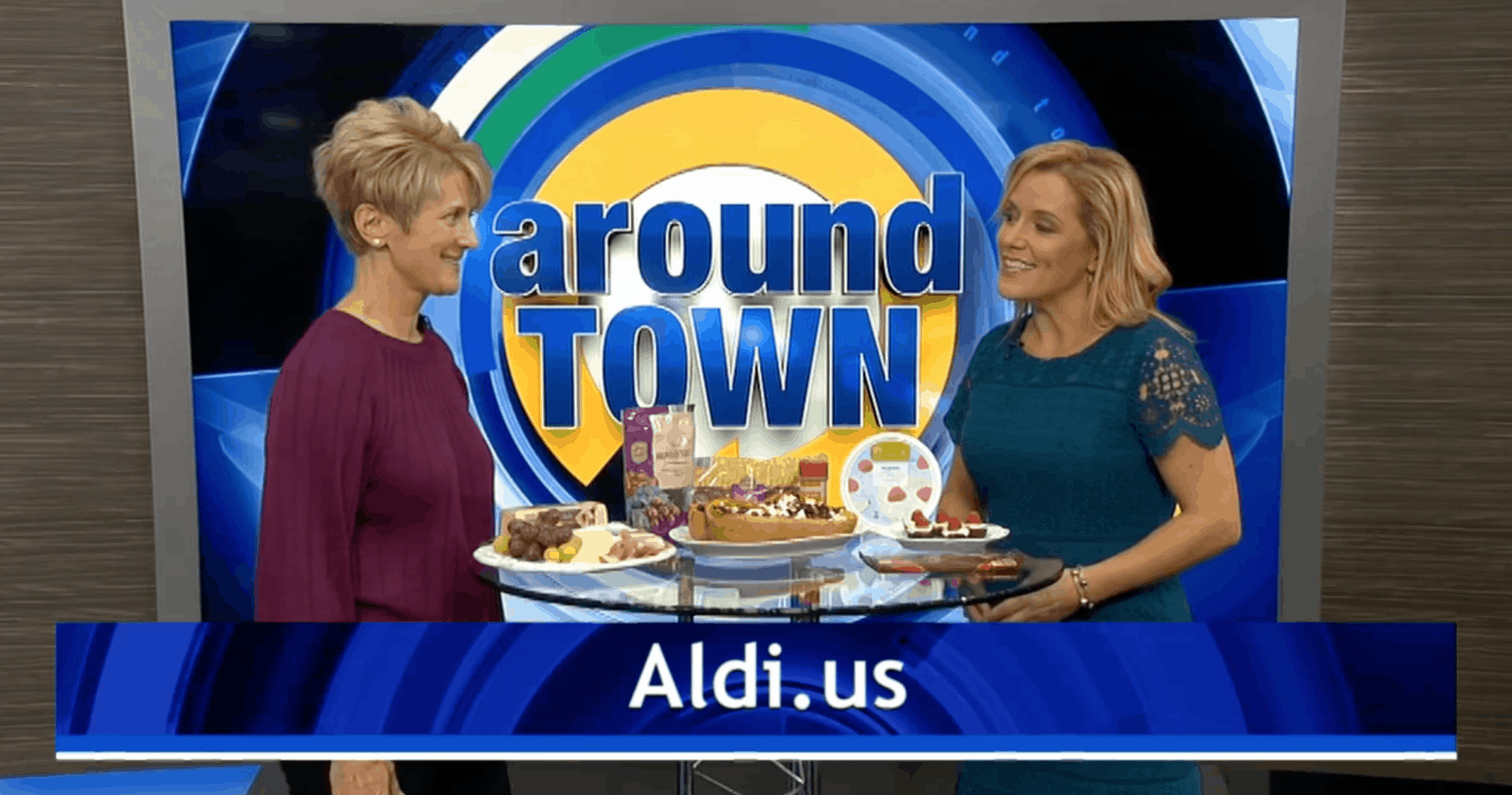 Elizabeth Ward, MS, RD talking about healthy holiday foods from ALDI on Boston 25's Around Town.