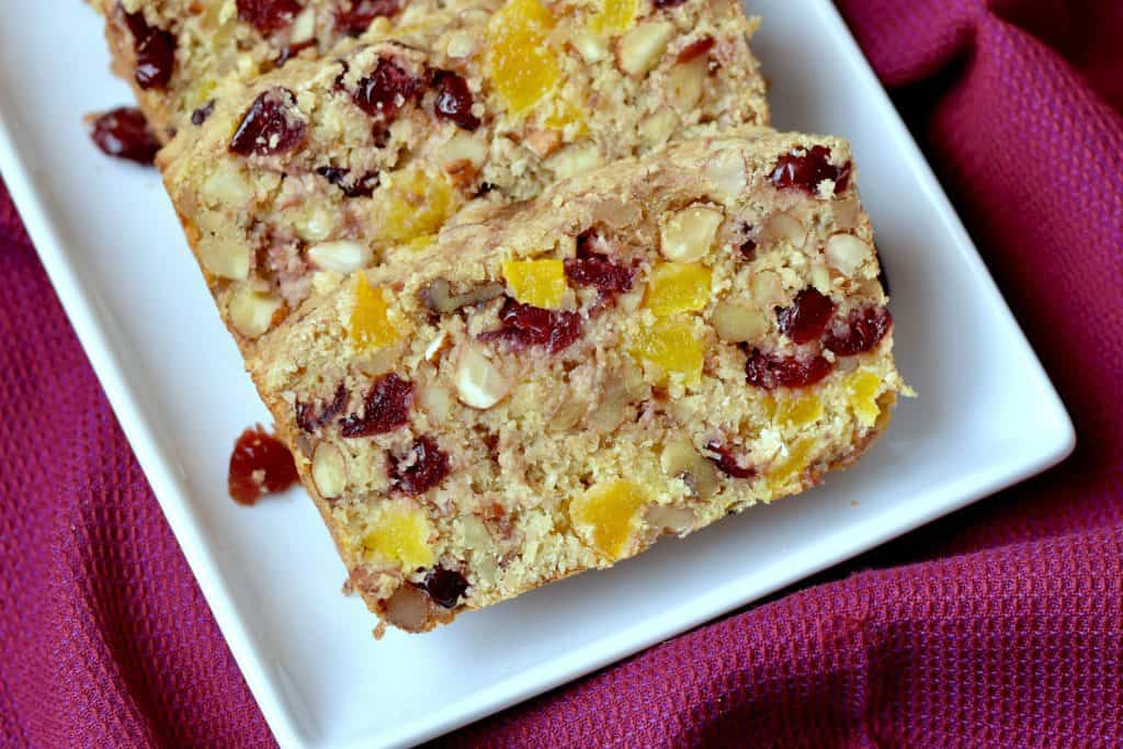 No added sugar fruit and nut bread