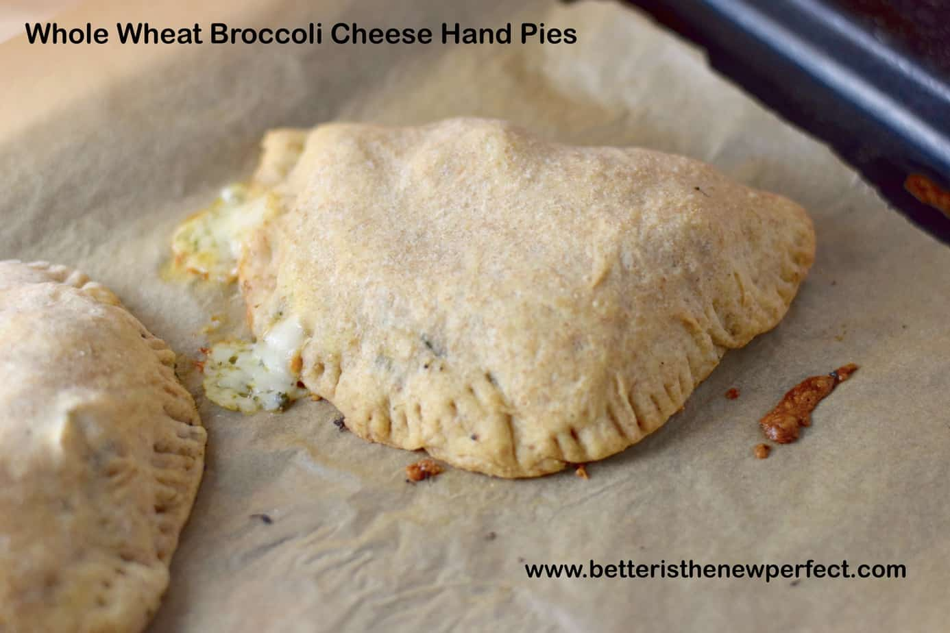 savory whole wheat broccoli cheese hand pies