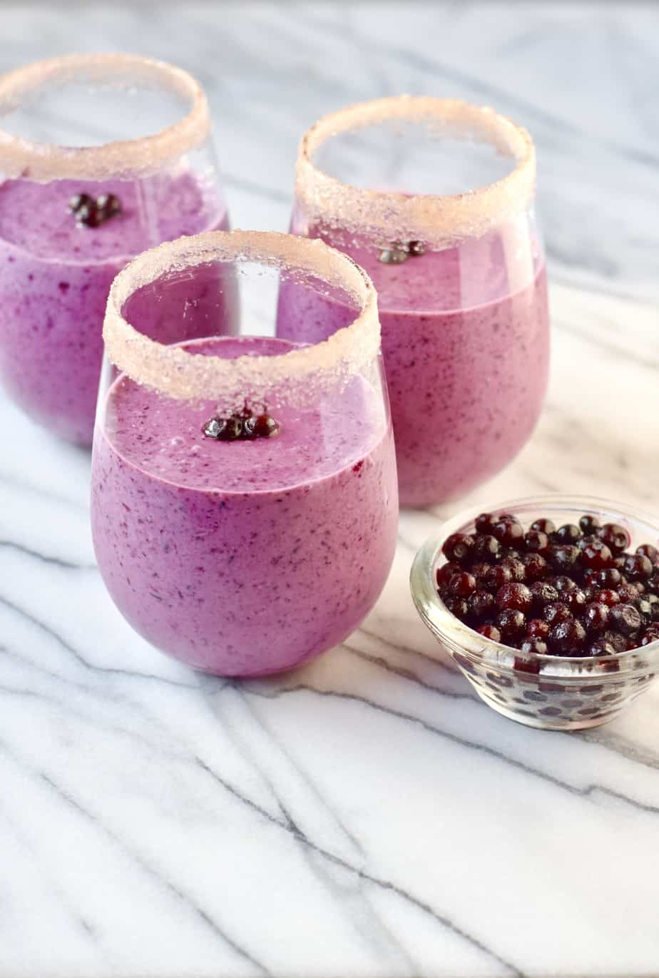wild blueberry, beet, and bean smoothie