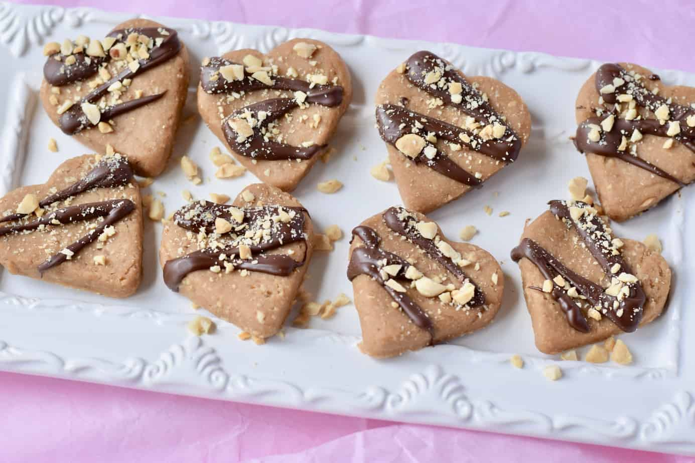 Plate of vegan bean and peanut butter no-bake treats