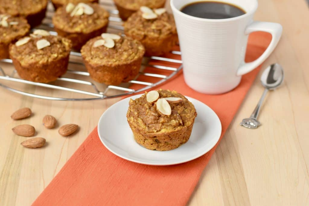 Almond Flour Apple Muffins with Pumpkin