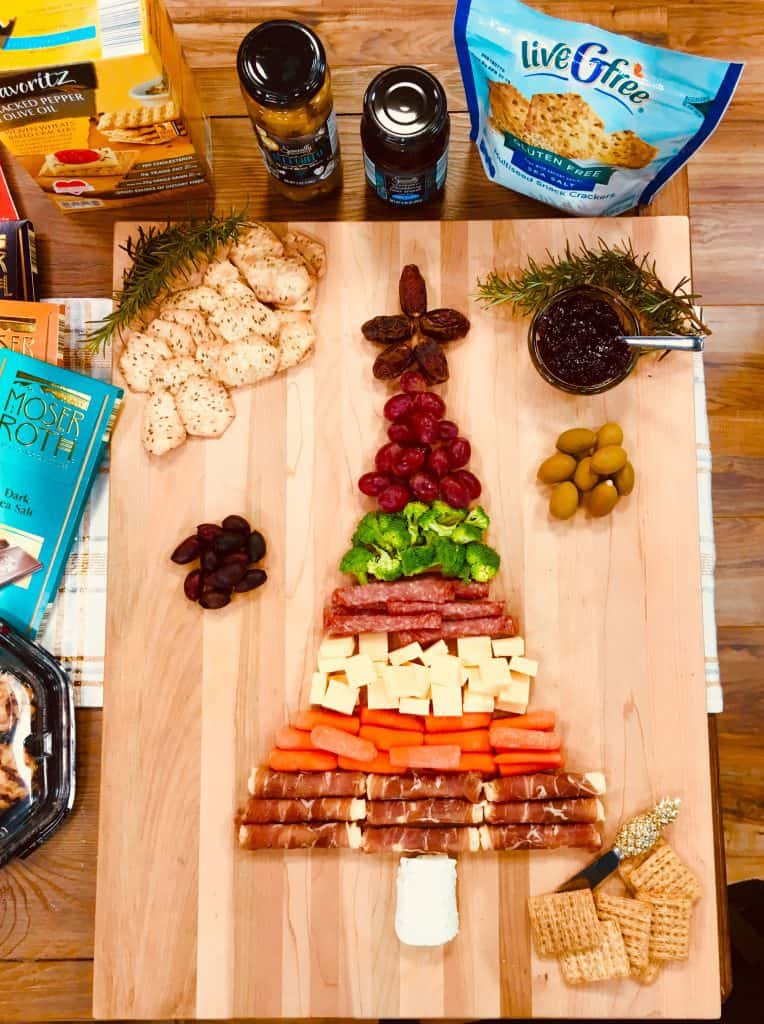 holiday party platter with ALDI products