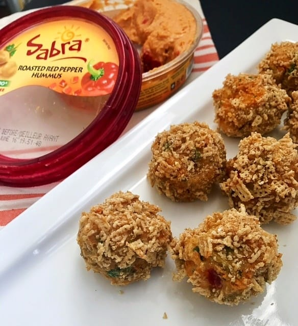 Crispy Hummus Mashed Potato Balls by Tasty Balance Nutrition