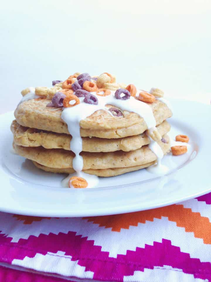 Flourless Milk & Cereal Pancakes by Sinful Nutrition