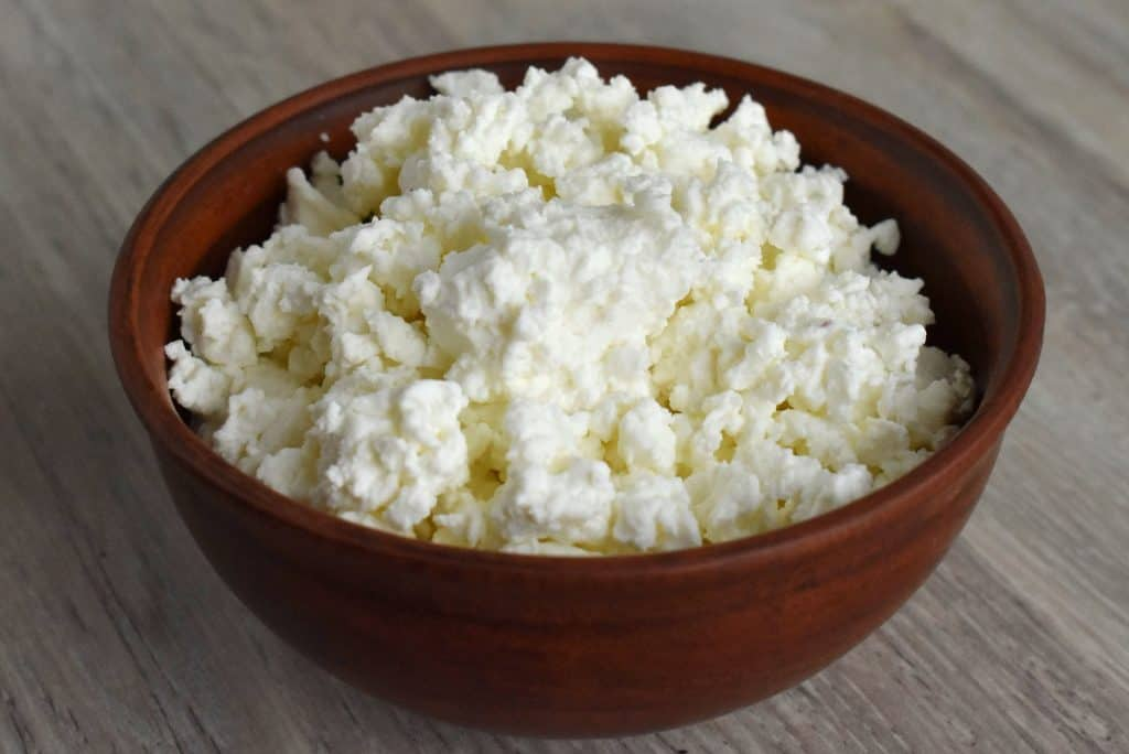 cottage cheese in a bowl